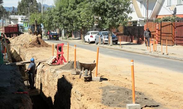 Se inicia pavimentación de calle Las Palmas