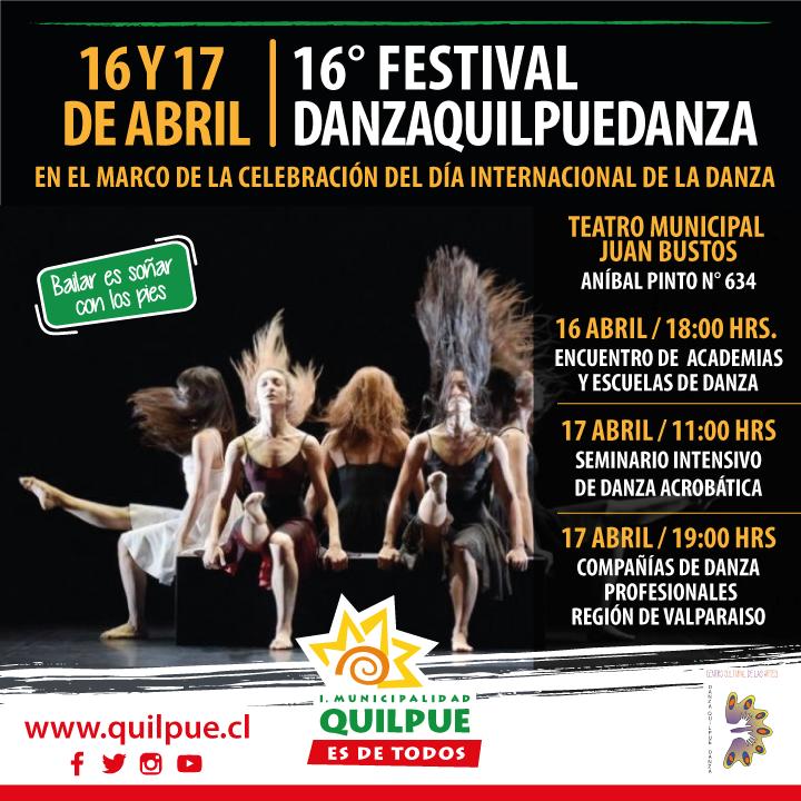 16° FESTIVAL DANZA QUILPUÉ DANZA 2020