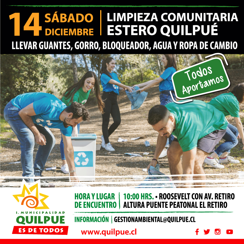 Limpieza Comunitaria Estero Quilpué
