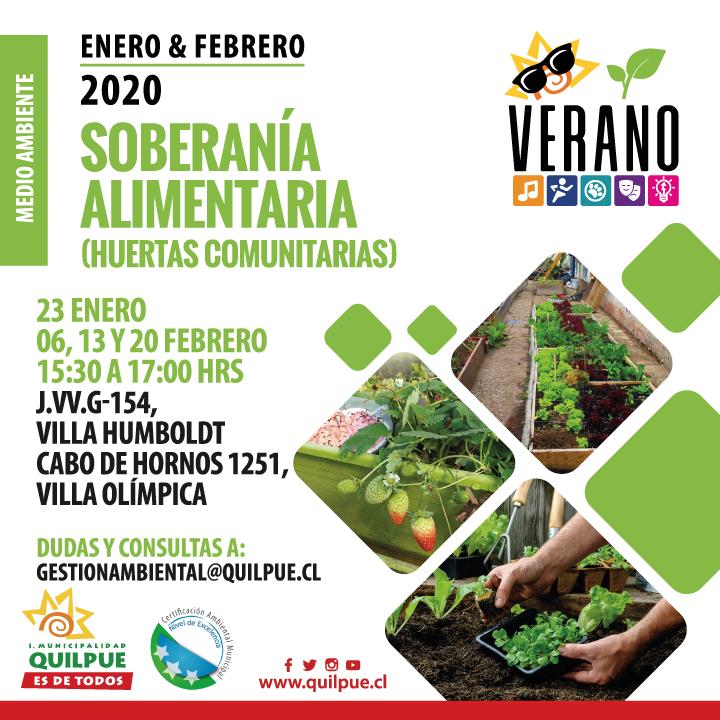 Soberanía Alimentaria: Huertas Comunitarias