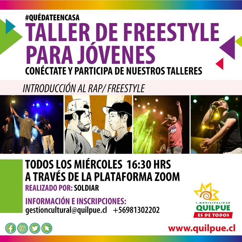 Taller Online de Freestyle para jóvenes de Quilpué y El Belloto