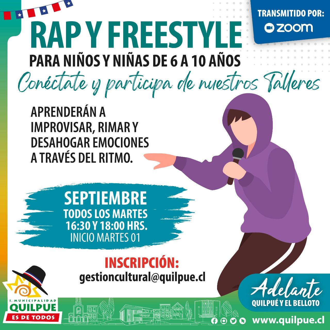 Taller online: Rap y Freestyle