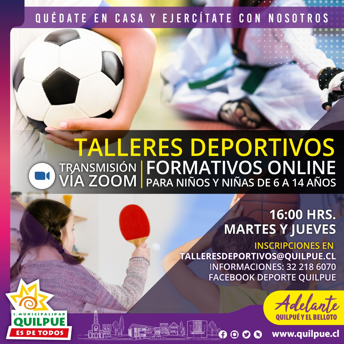 Talleres Deportivos Formativos Online