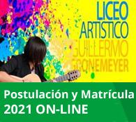 Postulación Liceo Artistico Guillermo Gronemeyer 2021